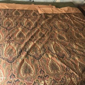 Waverly Paisley & Microsuede lined curtains